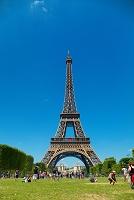 フランス エッフェル塔の観光客