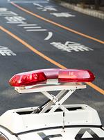 パトカーの回転赤色灯
