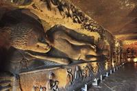 インド アジャンター石窟群 第26窟 釈迦涅槃像