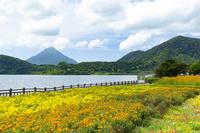 鹿児島県 池田湖 開聞岳