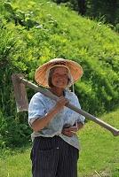 畑仕事のおばあちゃん