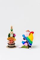 小幡土人形酉抱き童子と正月飾り