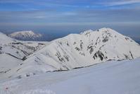 富山県 雷鳥沢付近から望む朝の奥大日岳