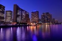 東京都 京浜運河と天王洲アイルの夜景