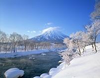 北海道・倶知安町 尻別川と羊蹄山