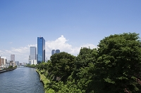 大阪府 OBPと大阪城公園