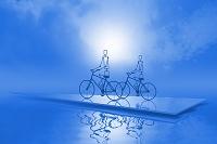 青空と2台の自転車 CG