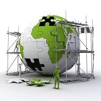 CG パズルのピースで作られた地球