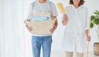 洗濯物と夫婦
