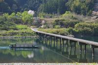高知県 三里沈下橋と四万十川と尾形船