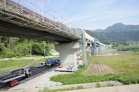 長野県 中野市 北陸新幹線の工事