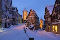 ドイツ バイエルン 雪の街並み