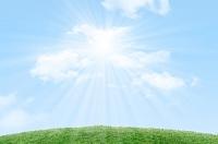 芝生と青空