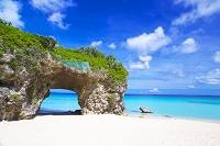 日本 沖縄県 宮古島の砂山ビーチ