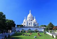 フランス パリ モンマルトルのサクレ・クール寺院,