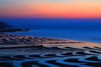 熊本県 宇土市 御興来海岸 夕暮れの干潟