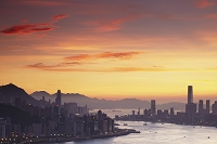 中国 香港 夕景