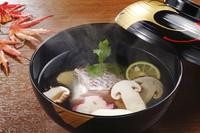 甘鯛と松茸のお吸い物
