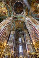 ウスペンスキー寺院 内部 セルギエフポサード ロシア