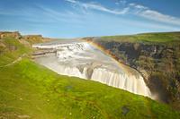 アイスランド グトルフォスと虹