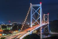 福岡県 関門橋の夜景