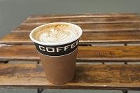 ラテアートのコーヒー
