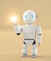 手のひらに光を乗せるロボット CG