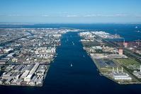 神奈川県 京浜工業地帯と京浜運河(川崎エコタウン構想地区)