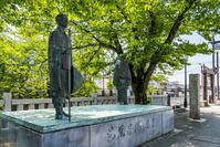 岐阜県 大垣市 奥の細道結びの地 松尾芭蕉と曽良の像