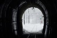 群馬県 大雪の上越線