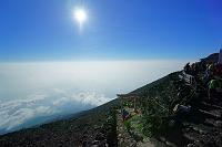 山梨県 富士登山(頂上)