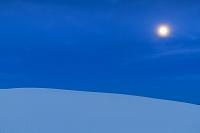 アメリカ合衆国 ホワイトサンズ国定公園 月と砂漠