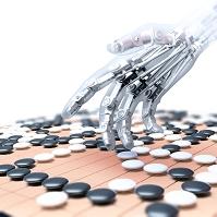 CG 囲碁をするロボットの手