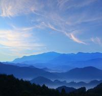 鹿児島県 出水市 紫尾山の朝景