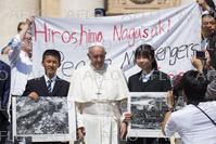 ローマ法王が一般謁見 日本の高校生平和大使が参列