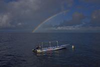 フィリピン セブ島 虹とボート