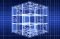 光る立方体と二進法 CG