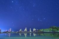 和歌山県 橋杭岩と星空
