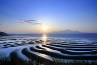 熊本県 御輿来海岸と夕日