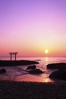 大洗海岸 日の出