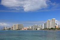 ハワイ ワイキキのホテル群