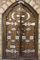 マリ トンブクトゥ アフリカ シディ・ヤヒヤ・モスクの扉