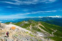 剣ヶ峰から見る穂高連峰方面