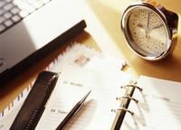 システム手帳と時計