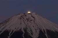 静岡県 昇るパール富士