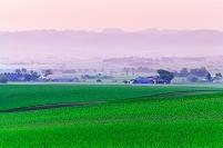北海道 角田盆地の夜明け