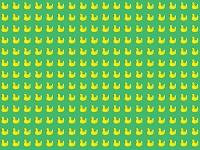 整列するたくさんの黄色いアヒルのおもちゃ
