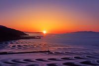 熊本県 御輿来海岸の夕陽