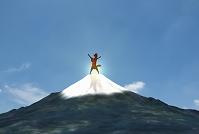 富士山に登った馬