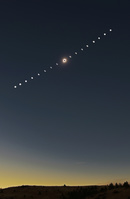 アメリカ オレゴン州 皆既日食 連続撮影